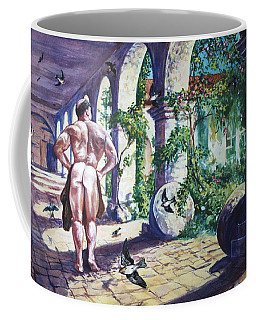 Naked In The Cloisters Coffee Mug