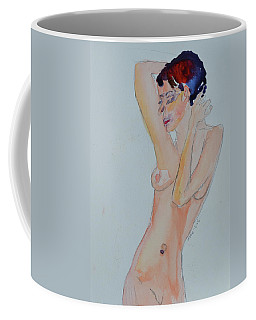 Coffee Mug featuring the painting Naked Noelle by Beverley Harper Tinsley