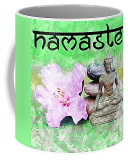 Coffee Mug featuring the mixed media Namaste Buddha. V2 by Lita Kelley