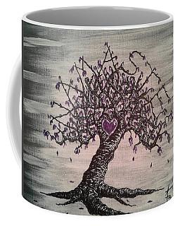Coffee Mug featuring the drawing Namaste Love Tree by Aaron Bombalicki
