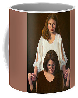 Coffee Mug featuring the painting Nancy And Abby by Donelli  DiMaria