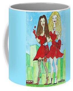 Nancy And Nicole Going Out At Night Coffee Mug by Don Pedro De Gracia