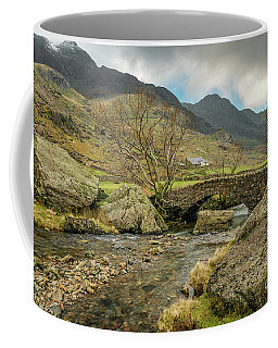 Coffee Mug featuring the photograph Nant Peris Bridge by Adrian Evans