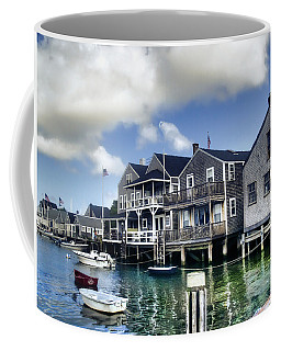 Nantucket Harbor In Summer Coffee Mug by Tammy Wetzel