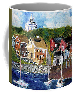 Nantucket Harbor Scene Coffee Mug