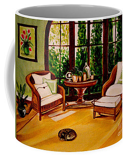 Coffee Mug featuring the painting Nap Time by Elizabeth Robinette Tyndall