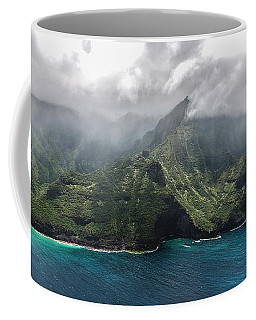 Napali Coast In Clouds And Fog Coffee Mug