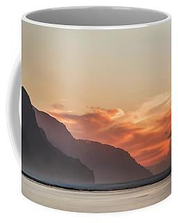 Napali Coast Kauai Hawaii Panoramic Sunset Coffee Mug