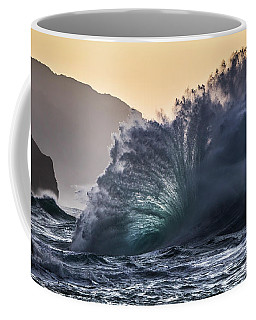 Napali Coast Kauai Wave Explosion Hawaii Coffee Mug