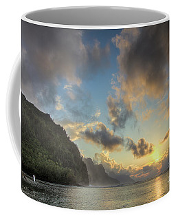 Napali Coast Sunset Kauai Coffee Mug