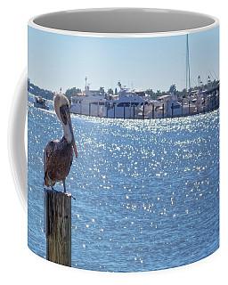 Coffee Mug featuring the photograph Naples Pelican by Lars Lentz