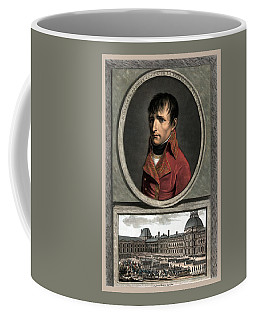 Coffee Mug featuring the painting Napoleon Bonaparte And Troop Review by War Is Hell Store