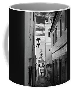 Narrow Street And Bell Tower In Tavira - Portugal Coffee Mug