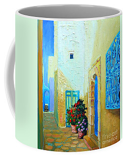 Narrow Street In Hammamet Coffee Mug by Ana Maria Edulescu
