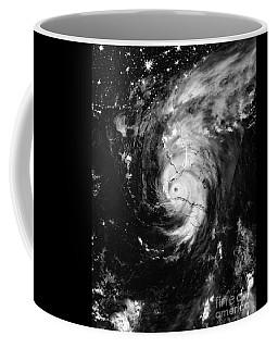 Nasa Hurricane Irma Between Cuba And Florida Satellite Image Coffee Mug