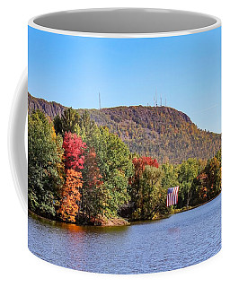 Nashawannuck Pond Fall Colors Coffee Mug