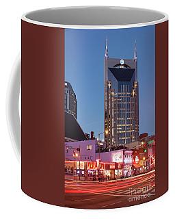 Coffee Mug featuring the photograph Nashville - Batman Building by Brian Jannsen