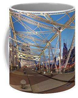 Coffee Mug featuring the photograph Nashville Bridge by Brian Jannsen