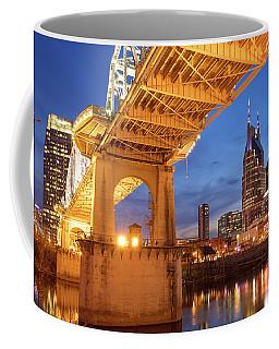 Coffee Mug featuring the photograph Nashville Bridge IIi by Brian Jannsen