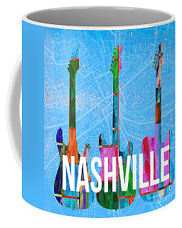 Nashville Guitars Music Scene Coffee Mug
