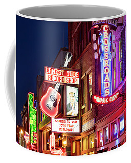 Coffee Mug featuring the photograph Nashville Signs by Brian Jannsen