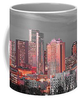 Nashville Skyline Art Version 2018 1 To 4 Ratio Panorama Color Coffee Mug
