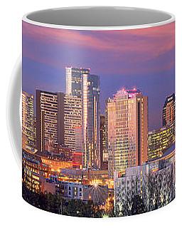 Nashville Skyline At Dusk 2018 1 To 4 Ratio Panorama Color Coffee Mug