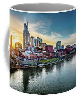 Nashville Skyline Sunset Coffee Mug