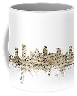 Nashville Tennessee Skyline Sheet Music Coffee Mug