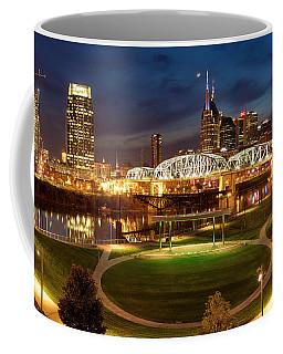 Coffee Mug featuring the photograph Nashville Twilight Skyline by Brian Jannsen