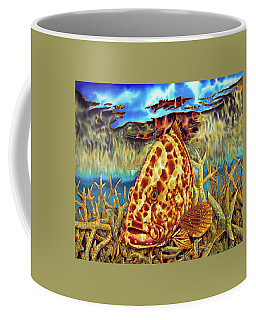 Nassau Grouper And Staghorn Coral Coffee Mug