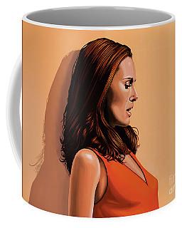 Natalie Portman 2 Coffee Mug by Paul Meijering