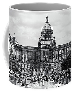 Coffee Mug featuring the photograph National Museum At Wenceslas Square. Prague by Jenny Rainbow