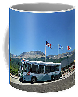 Coffee Mug featuring the photograph National Parks. St. Mary Visitor Center At Glacier by Ausra Huntington nee Paulauskaite