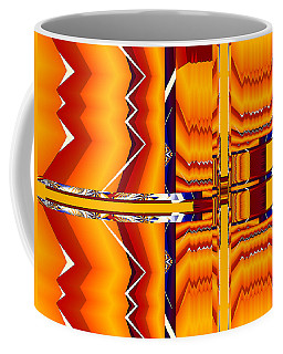 Coffee Mug featuring the digital art Native Abstract by Fran Riley