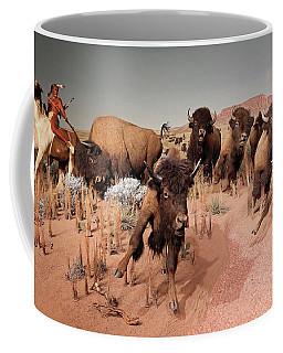 Native American Bison Hunt  Coffee Mug