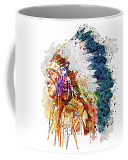 Native American Chief Side Face Coffee Mug