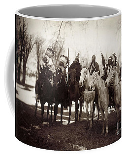 Coffee Mug featuring the photograph Native American Chiefs by Granger