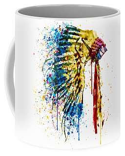 Native American Feather Headdress   Coffee Mug