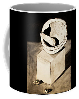 Coffee Mug featuring the drawing Native American Grinding Stones by Ayasha Loya