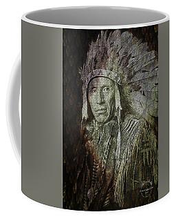 Coffee Mug featuring the digital art Native American - Sioux Chief Eagle Dog by Absinthe Art By Michelle LeAnn Scott