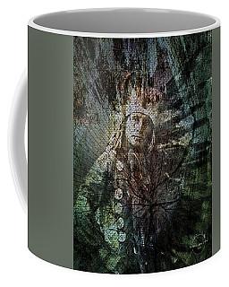 Coffee Mug featuring the digital art Native American - Sioux Chief Little Horse by Absinthe Art By Michelle LeAnn Scott