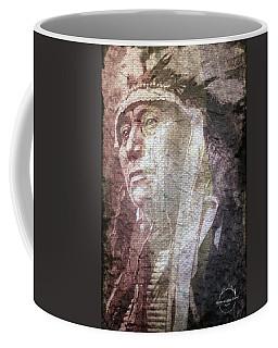 Coffee Mug featuring the digital art Native American - Sioux Chief Running Antelope by Absinthe Art By Michelle LeAnn Scott