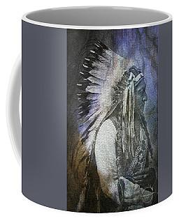 Coffee Mug featuring the digital art Native American - Sioux Chief Sitting Bull by Absinthe Art By Michelle LeAnn Scott