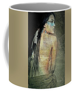 Coffee Mug featuring the digital art Native American Woman by Absinthe Art By Michelle LeAnn Scott
