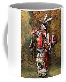Native American Bustle Dancer Coffee Mug by Greg Sigrist