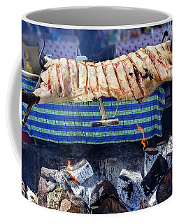 Coffee Mug featuring the photograph Native Barbecue In Taiwan by Yali Shi