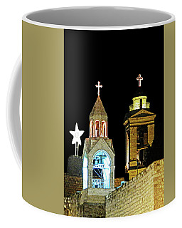 Nativity Church Lights Coffee Mug