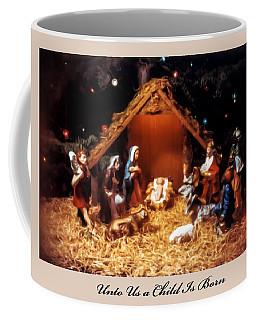 Nativity Scene Greeting Card Coffee Mug