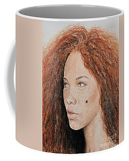 Natural Beauty With Red Hair  Coffee Mug